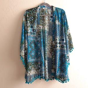 Umgee bobo fringe tassle kimono small med